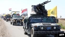 지난달 28일 이라크 정부군이 바그다드 북부 사마라 지역에서 티크리트 남부 알-다워 지역으로 이동하고 있다. (자료사진)