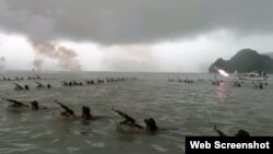 Hình ảnh cuộc diễn tập trên biển hôm 9/9.
