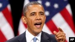 1월30일 라스베거스 델 솔 고등학교 연설에서 이민개혁을 강조하고 있는 오바마 대통령