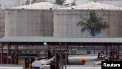 Petrol depot in Lagos, Nigeria.