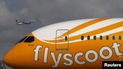 Một máy bay của hãng hàng không Scoot.