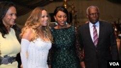 Mariah Carey com Isabel dos Santos, José Eduardo dos Santos e Ana Paula dos Santos