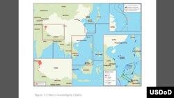 中國領土主權宣示示意圖