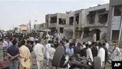 19일 탈레반 차량 폭탄 공격을 당한 현장