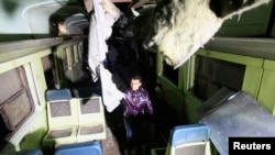 Hiện trường tai nạn xe lửa ở Ai Cập, ngày 15/1/2013.