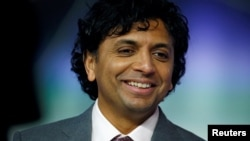 """Director M. Night Shyamalan attends the European premiere of """"Glass"""" in London, Britain January 9, 2019."""
