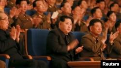 Lãnh tụ Bắc Triều Tiên Kim Jong Un dự một buổi hòa nhạc tại Bình Nhưỡng, ngày 23/2/2016.