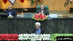 سخنرانی حسن روحانی رئیس جمهوری ایران در مجلس شورای اسلامی