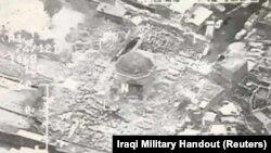 Yon imaj ki montre Moske al-Nuri a nan Mosoul Irak, 21 jen, 2017.