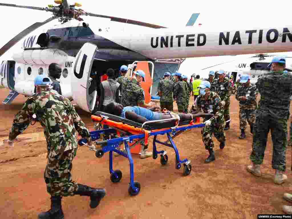 The UN Mission in South Sudan helped to medevac hundreds of wounded to Bor, the capital of Jonglei state, after inter-ethnic clashes in July. Kang said local leaders and the South Sudanese army must take the lead to end the violence in the new nation.
