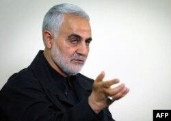 ایرانی جنرل قاسم سلیمانی جو اس سال جنوری میں ایک امریکی ڈورن حملے میں مارے گئے تھے۔