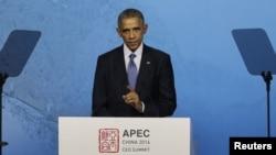 جمهور رئیس اوباما د اسیا پسفیک د اقتصادي همکاریو غونډې ته د وینا په حال