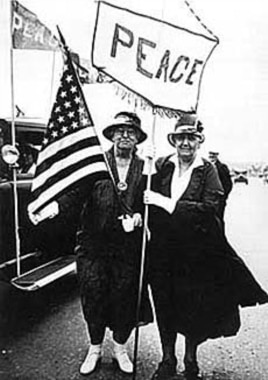 Jane Addams (right) was the first American woman to receive the Nobel Peace Prize.