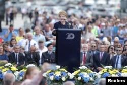 Madeleine Albright drži govor u Prištini u sklopu obilježavanja 20 godina od dolaska NATO snaga na Kosovo, Priština, 12. juni 2019.