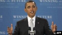 Выступление Обамы в средней школе в пригороде Вашингтона