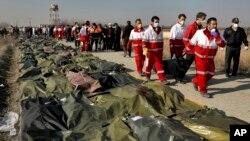 Düşen Ukrayna Hava Yolları'na ait uçakta bulunan 167 yolcu ve 9 mürettebattan kurtulan olmadı