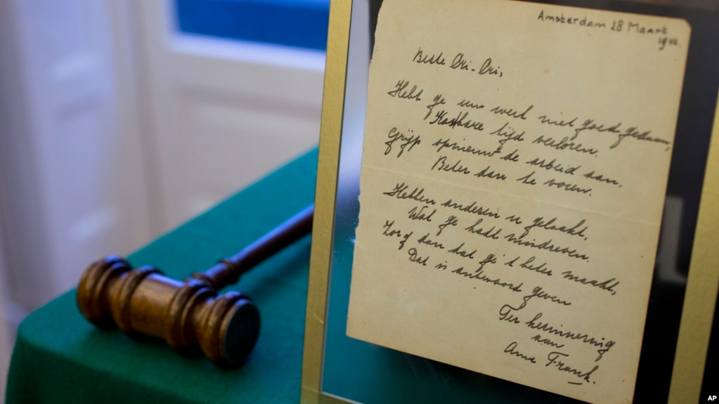 Mesazhi i ditarit të Ana Frankut pas 75 vitesh