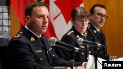 지난 3일 캐나다 연방 경찰이 테러 용의자 3명을 검거 후 연방 경찰청 본부에서 기자회견을 열었다. (자료사진)