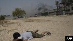 Обстрел израильского киббуца палестинскими ракетами