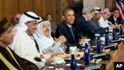 바락 오바마 미국 대통령이 지난해 5월 워싱턴 인근 캠프데이비드에서 걸프협력위원회 정상회의를 개최했다. (자료사진)