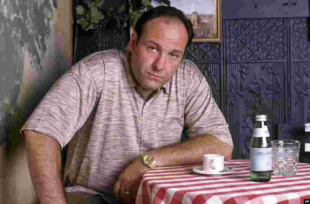 """Imagen de Gandolfini durante la primera temporada de """"The Sopranos""""."""