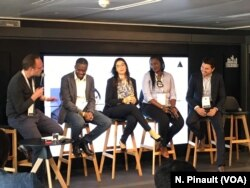 Panel on startups in Francophone Africa with Ben White, Tidjane Deme, Marième Diop, Kenza Lahlou and Yassine OUSSAIFI, in Paris, May 15th 2019