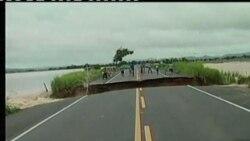 巴西洪水迫使数千人疏散
