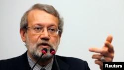 알리 라리자니 이란 국회의장.