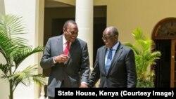 Rais Uhuru Kenyatta na John Magufuli