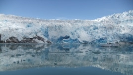 This marine-based glacier in the area of Greenland is retreating into land. (Photo: Kelsey Winsor/UW-Madison)