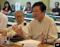 北京学者杜光(左)和章立凡都名列百人榜