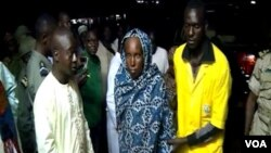 Freed hostages, Ngaoundere, Cameroon, April 9, 2019. ( M. Kindzeka/VOA)