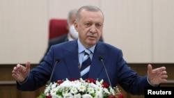 ترک صدر رجب طیب ایردوان شمالی قبرص کے دورے پر ہیں۔