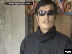 法律工作者陈光诚(视频截图)