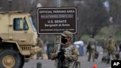 15 Ocak 2020 - Başkent Washington'da Kongre binasına düzenlenen baskının ardından güvenlik önlemleri sıkılaştırıldı