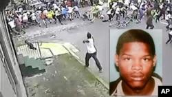 Foto del sospechoso Akein Scott capturado la noche del miércoles, acusado de disparar a una multitud en el desfile del Día de las Madres en Nueva Orleans.