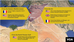 Missile Strikes on Syria by Britain, France and the United States