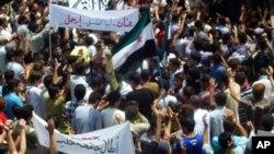Biểu tình phản đối chính phủ trong thành phố Homs của Syria hôm 25/5/12