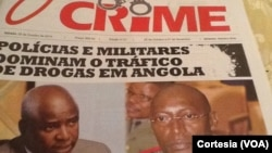 "Capa do jornal angolano ""O Crime"""