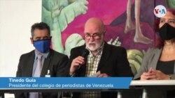 Tinedo Guía, presidente del colegio de periodistas de Venezuela