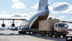 Самолет российско-транспортной авиации с гуманитарной помощью перед вылетом в Италию. 22 марта 2020.