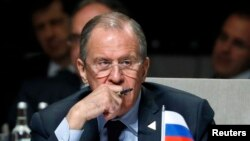 俄罗斯外长拉夫罗夫3月24日在海牙