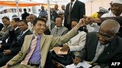 Predsednik Madagaskara Andri Radžeolina na jednom skupu, prošlog maja
