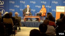 拉塞尔在亚洲协会发表美国亚洲政策演讲 (美国之音方冰拍摄)