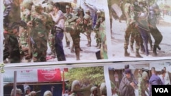 Images showing a crackdown on demonstrators conducted by the special force of Division 911, which took place in early January, 2014. (Hul Reaksmey/VOA Khmer)