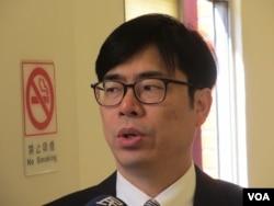 民進黨立委陳其邁。(美國之音張永泰拍攝)