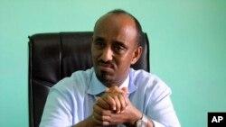 Somali defense minister Abdihakim Mohamud Haji Fiqi, March, 8, 2011.