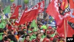 Protesta në Belgjikë kundër masave shtrënguese ekonomike