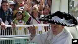 教宗本篤十六世星期天在墨西哥訪問
