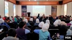 پارچۀ تمثیلی در برنامه یی به بزرگداشت از روز جهانی زن در ولایت بامیان